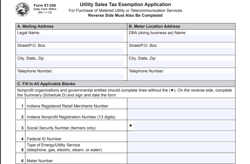 How to File for Utility Sales Tax Exemption in Indiana? – Blog ...