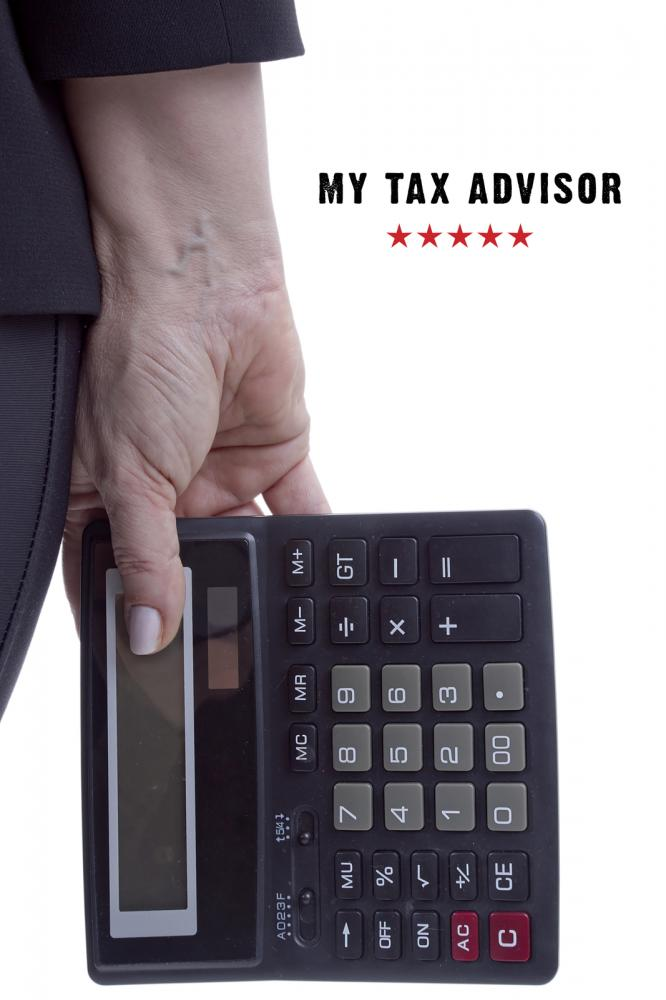 tax advisor holding calculator